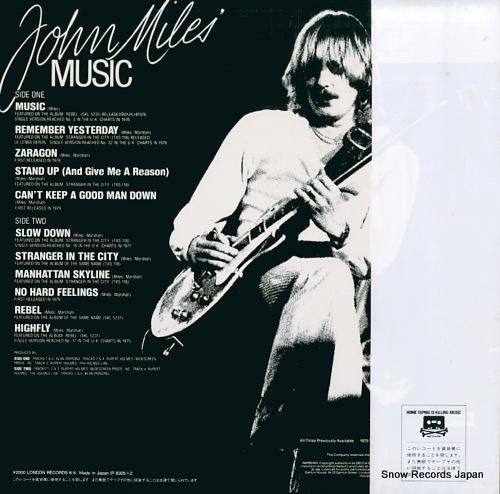 MILES, JOHN john miles' music L20P1124 - back cover