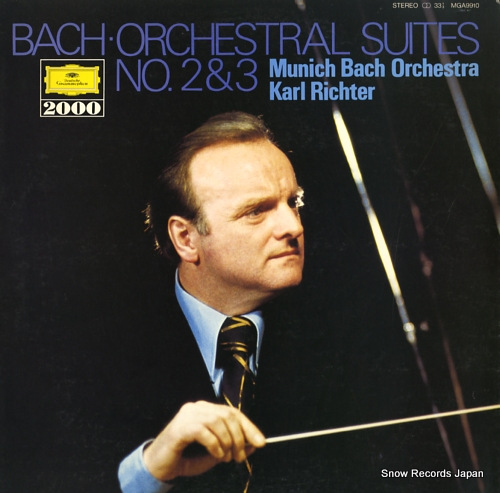 RICHTER, KARL bach; orchestral suite no.2 in b minor bwv1067 MGA9910 - front cover