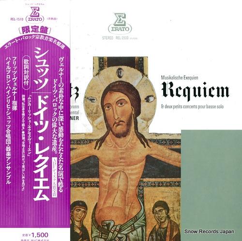 WERNER, FRITZ schutz; requiem (musikalische exequien) REL-1510 - front cover