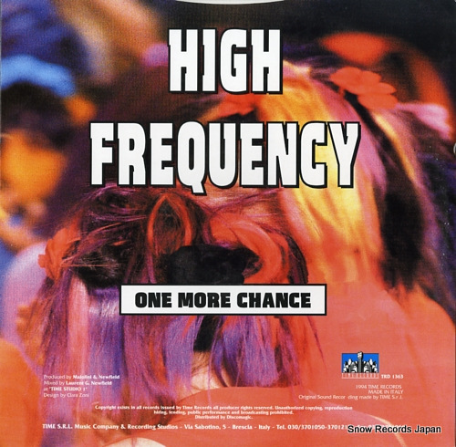 HIGH FREQUENCY one more chance TRD1363 - back cover