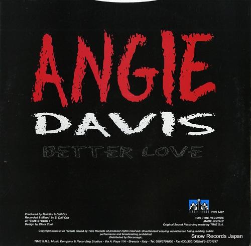 DAVIS, ANGIE better love TRD1427 - back cover