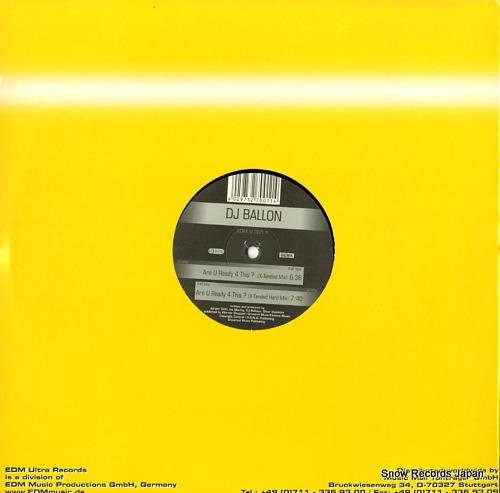 DJ BALLON are u ready 4 this? EDMU001-1 - back cover