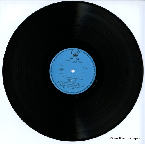 WALTER, BRUNO mozart; petite musique de nuit CBS75043 - disc