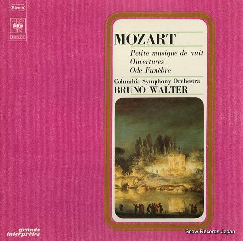 WALTER, BRUNO mozart; petite musique de nuit CBS75043 - front cover