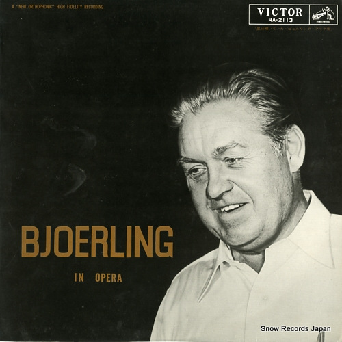 BJOERLING, JUSSI bjoerling in opera RA-2113 - front cover