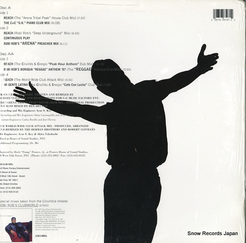 ROBI ROB'S CLUBWORLD reach / mi gente latina 44X78507 - back cover