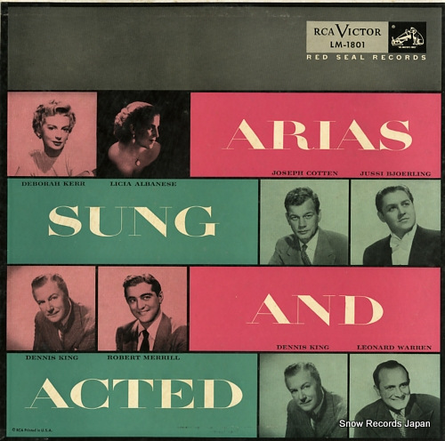 V/A arias sung and acted LM-1801 - front cover
