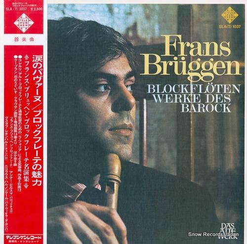 BRUGGEN, FRANS blockfloten werke des barock SLA(T)1037 - front cover