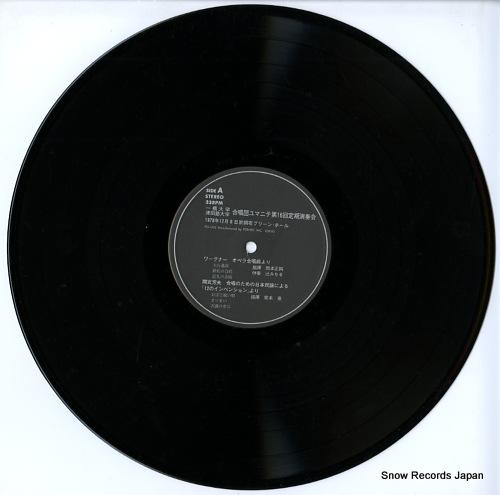HITOTSUBASHI DAIGAKU / TSUDAJUKU DAIGAKU dasshodan yumanite dai16kai teiki ensokai FO-1203/4 - disc
