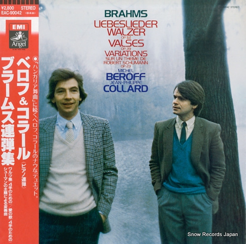 BEROFF, MICHEL, AND JEAN-PHILIPPE COLLARD brahms; liebeslieder walzer op.52 EAC-90042 - front cover