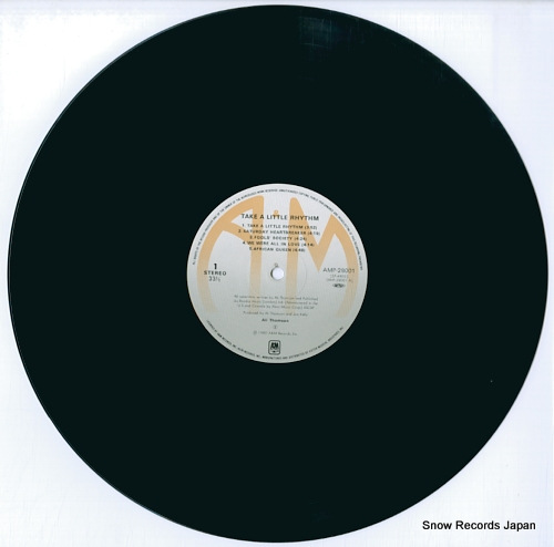 THOMSON, ALI take a little rhythm AMP-28001 - disc