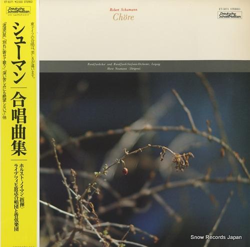 NEUMANN, HORST schumann; chore ET-5071 - front cover