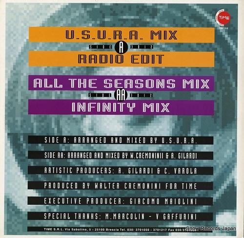 JINNY feel the rhythm(u.s.u.r.a. remixes) TIME016 - back cover