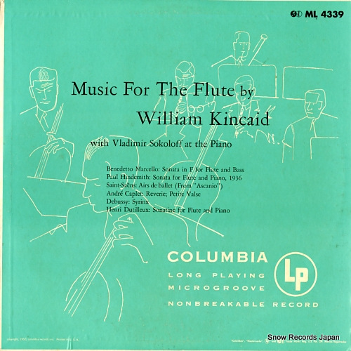 KINCAID, WILLIAM music for the flute ML-4339 - front cover