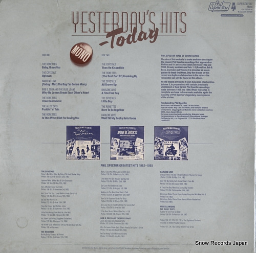 V/A yesterday's hits today 2307007 - back cover