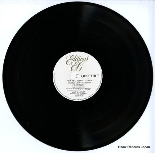 デヴィッド・トゥープ/マックス・イーストレイ new and rediscovered musical instruments EGED24