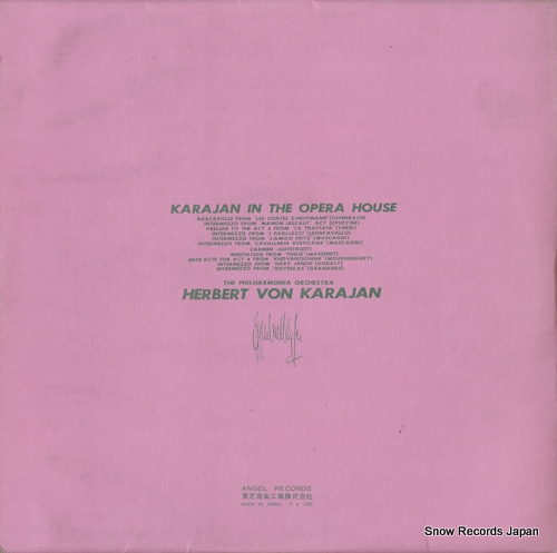 KARAJAN, HERBERT VON karajan in the opera house AA.7397 - back cover