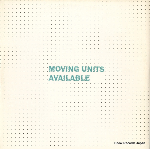 MOVING UNITS available ZCUB19 - front cover
