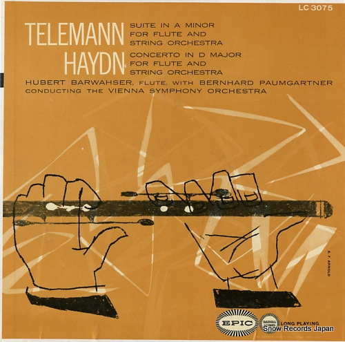 BARWAHSER, HUBERT telemann; suite in a minor for flute and string orchestra LC3075 - front cover