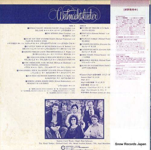 WYATT, CAROL weihnachtslieder C20G0004 - back cover