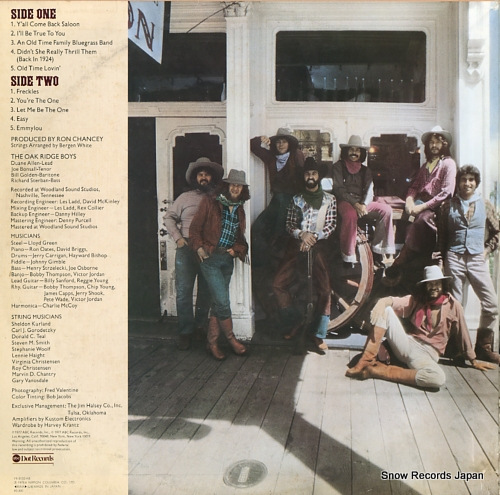 OAK RIDGE BOYS, THE y'all come back saloon YX-8135-AB - back cover