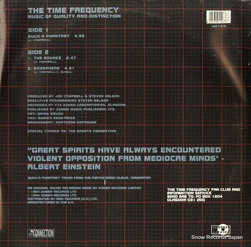 TIME FREQUENCY, THE such a phantasy ep KGBT013 - back cover