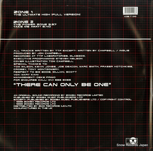 TIME FREQUENCY, THE the power zone ep KGBT010 - back cover