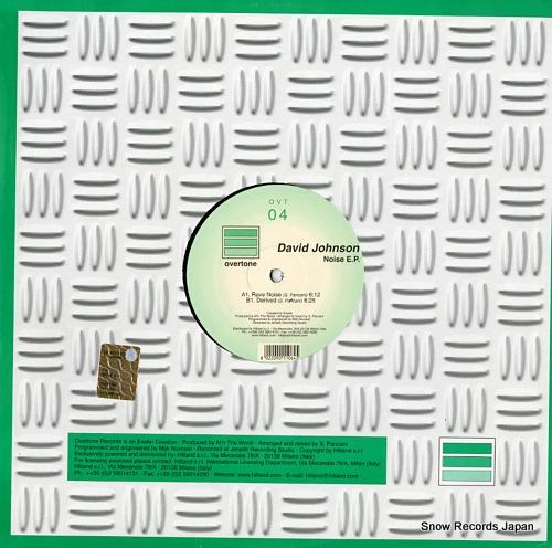 JOHNSON, DAVID noise e.p. OVT04 - back cover