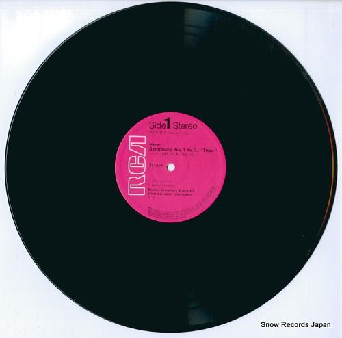 LEINSDORF, ERICH mahler; symphony no.1 in d titan RGC-1011 - disc