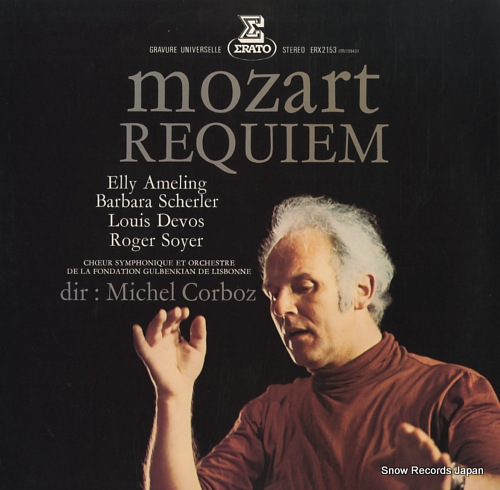 CORBOZ, MICHEL mozart; requiem kv.626 ERX-2153 - front cover