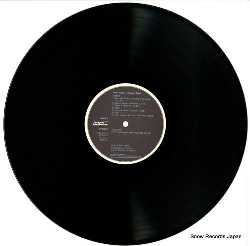 ADAM, THEO mozart; arien ET-5034 - disc