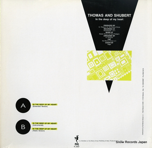 THOMAS AND SHUBERT in the deep of my heart FL8457 - back cover