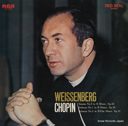 WEISSENBERG, ALEXIS chopin; sonata no.3 in b minor, op.58 SRA-2660 - front cover