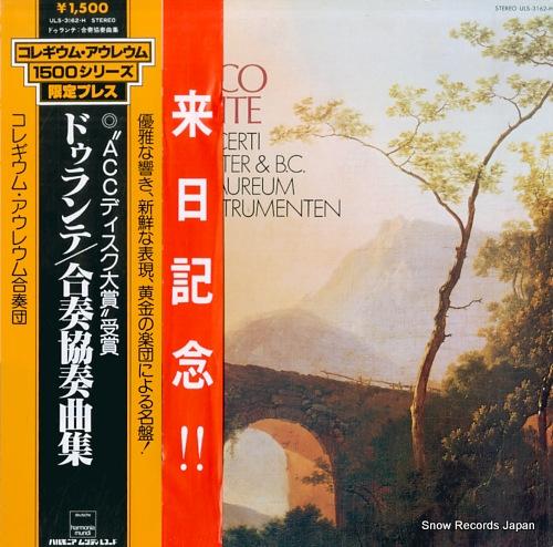 COLLEGIUM AUREUM durante; 4 concerti ULS-3162-H - front cover