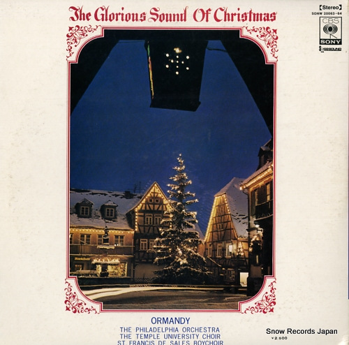 ORMANDY, EUGENE the glorious sound of christmas SONW20063-64 - back cover