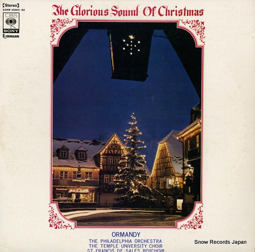 ORMANDY, EUGENE the glorious sound of christmas SONW20063-64 - front cover