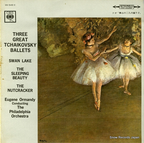 ORMANDY, EUGENE three great tchaikovsky ballets OS-549-C - front cover