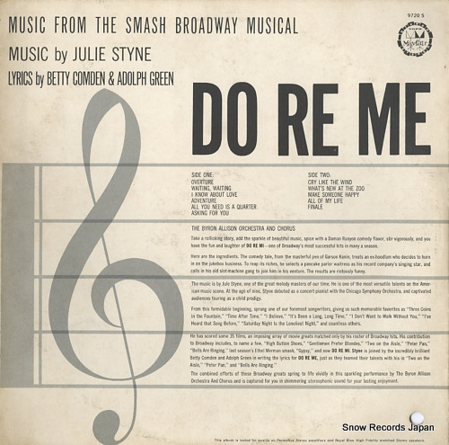 THE BYRON ALLISON ORCHESTRA AND CHORUS do re me 9720S