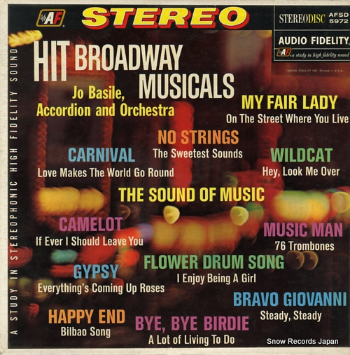 BASILE, JO hit broadway musicals AFSD5972 - front cover