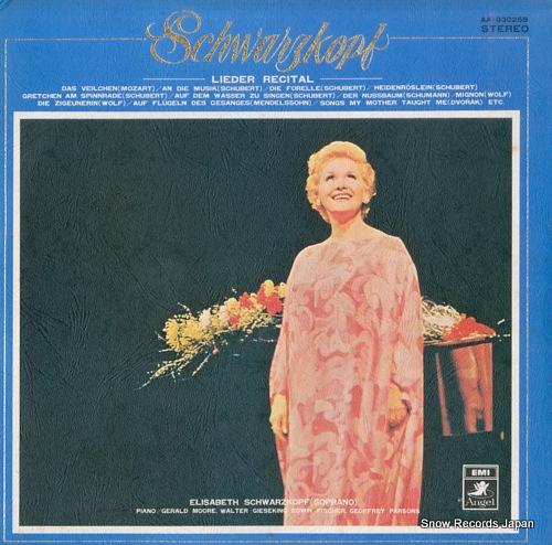 SCHWARZKOPF, ELISABETH schwarzkopf/lieder recital AA-93025B - front cover