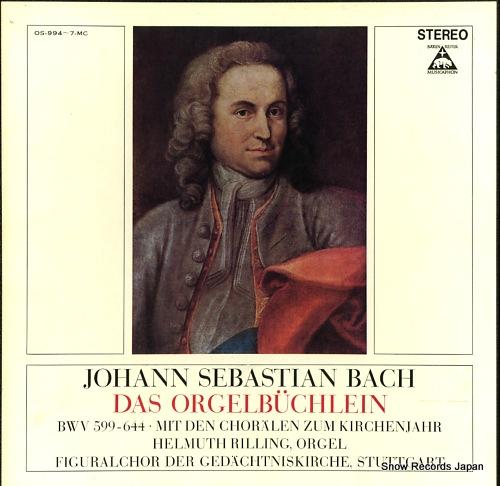 RILLING, HELMUTH bach; das orgelbuchlein OS-994-7-MC - front cover