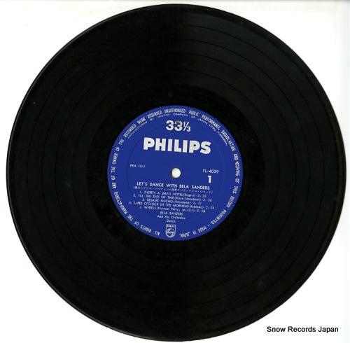 SANDERS, BELA let's dance with bela sanders FL-4039 - disc