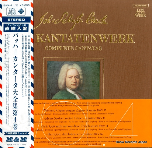 LEONHARDT, GUSTAV bach; complete cantatas volume 4 ISKW-41/2/SKW4/1-2 - front cover