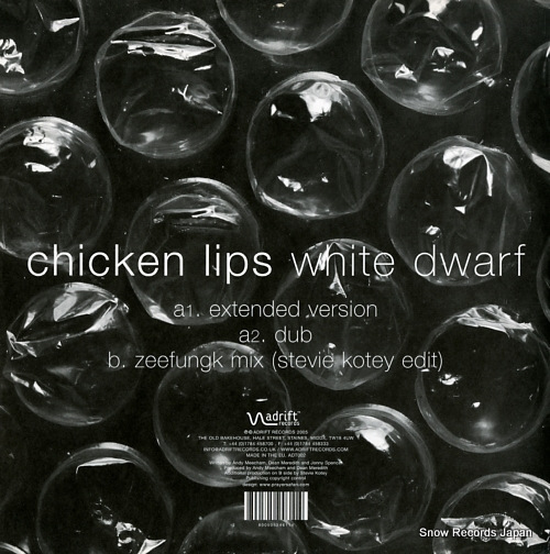 CHICKEN LIPS white dwarf ADT002 - back cover