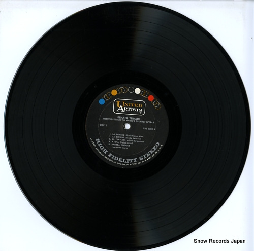 TEBALDI, RENATA selections from the world's greatest operas UAS6238 - disc