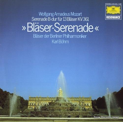 BOHM, KARL mozart; serenade b-dur fur 13 blaser kv361 419335-1 - front cover