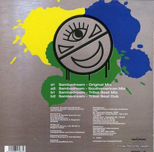 BROWN, CARLINHOS, AND DJ DERO sambadream VLMX1698-3 - back cover