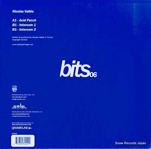 VALLEE, NICOLAS acid punch / intercom BITS006 - back cover