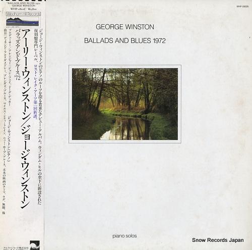 ジョージ・ウィンストン アーリー・ウィンストン/バラッズ・アンド・ブルース'72 WHP-28026