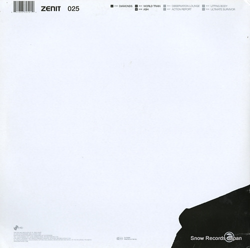 HENZE, JORG ash and diamonds ZENIT25LP - back cover